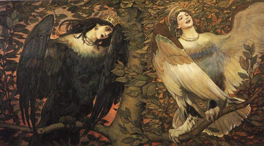 В. М. Васнецов, «Сирин и Алконост. Птицы радости и печали»