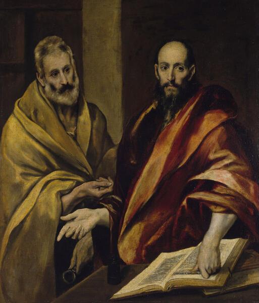 Эль Греко, «Апостолы Пётр и Павел», ок. 1587—1592 гг.