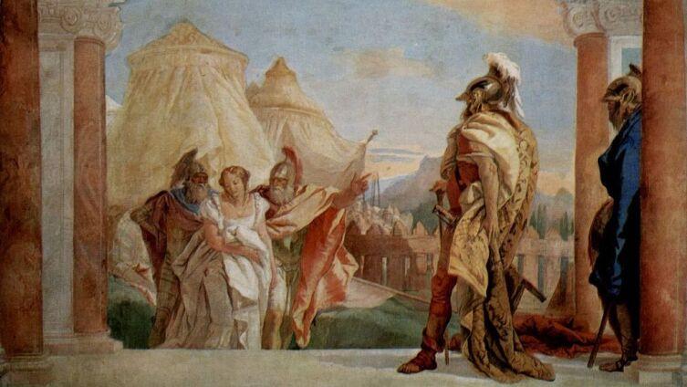 Джованни Баттиста Тьеполо, «Эврибат и Талтибий ведут Брисеиду к Агамемнону», 1757 г.