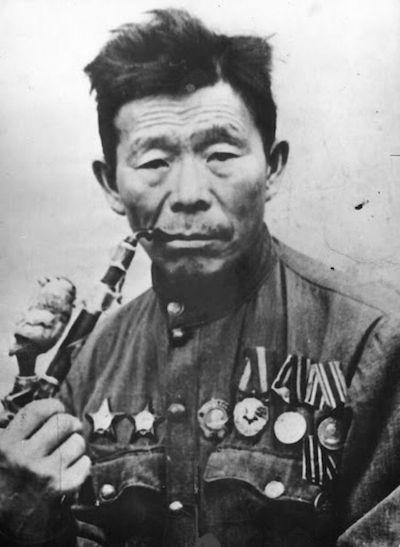 Семён Данилович Номоконов в 1945 г.