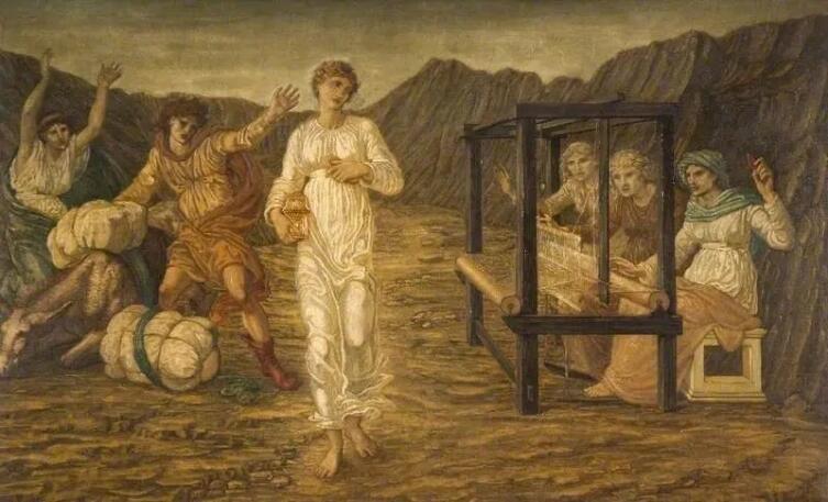 Эдвард Коли Бёрн-Джонс, «Амур и Психея. Психея выполняет задание Венеры», 1881 г.