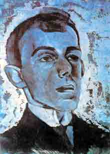 Л. А. Бруни, «Портрет Мандельштама», 1916 г.