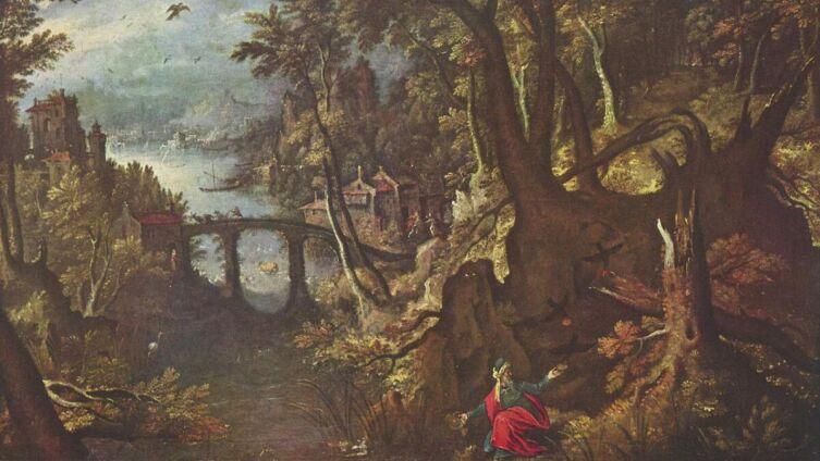 Гиллис ван Конинкслоо, «Вороны, кормящие пророка Илию в пустыне»