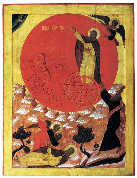 Огненное восхождение Ильи-пророка. Великий Устюг. 1570-е гг.