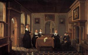 Чем реален фантастический интерьер в старинной голландской живописи?