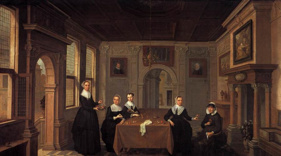 Бартоломеус ван Бассен, «Группа женщин в интерьере»