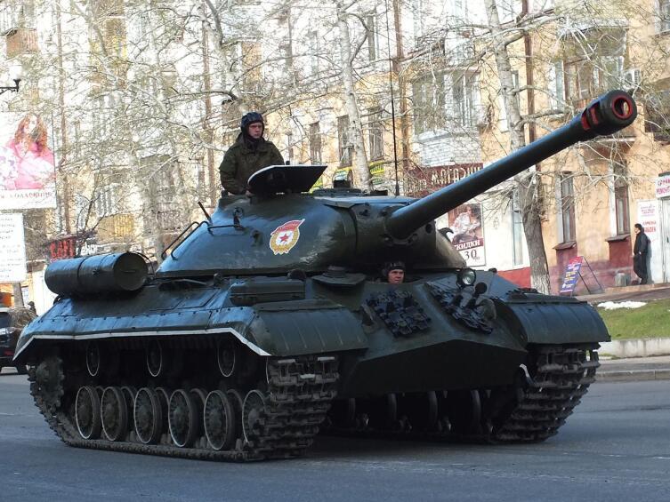 Хабаровск, ИС-3М на параде, посвящённом 70-летию Победы в Великой Отечественной войне