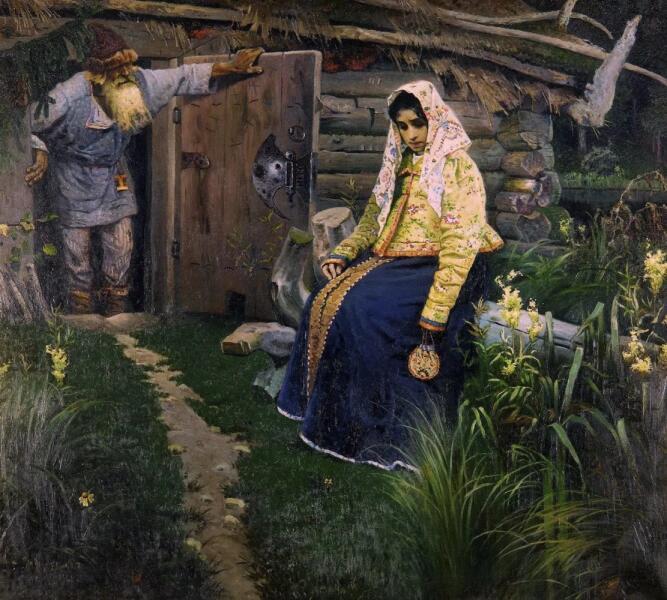 М. В. Нестеров, «За приворотным зельем», 1888 г.