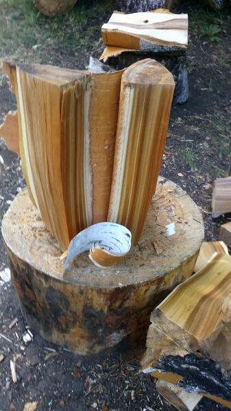 Кора сырых дров, прочная