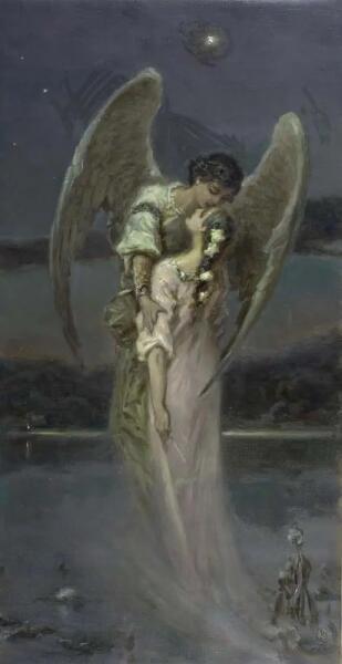 В. А. Котарбинский, «Девушка и ангел (Поцелуй ангела)»