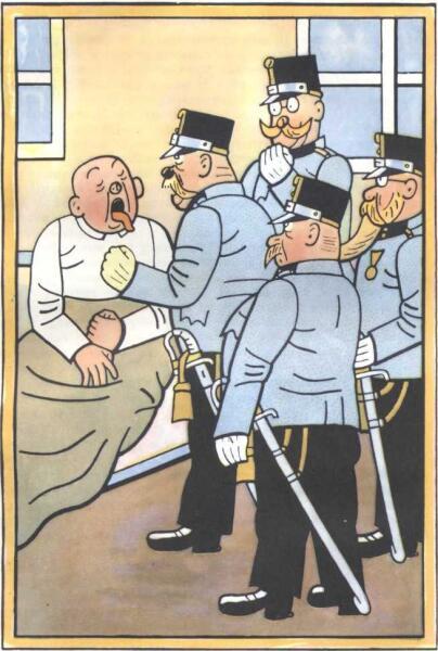 Иллюстрация Йозефа Лада к книге «Похождения бравого солдата Швейка во время мировой войны»
