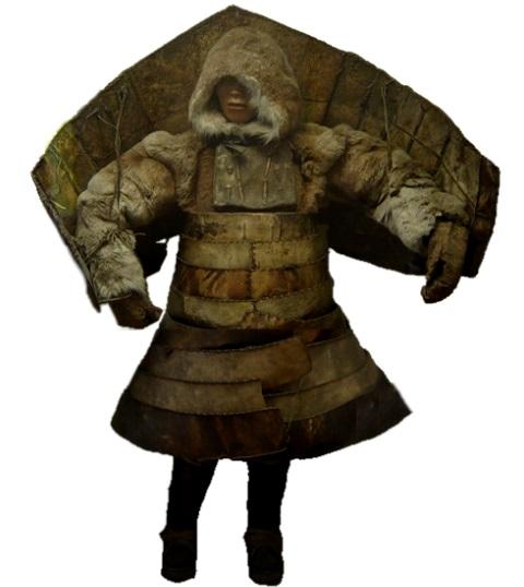 Чукотский воин в доспехах без оружия, Кунсткамера