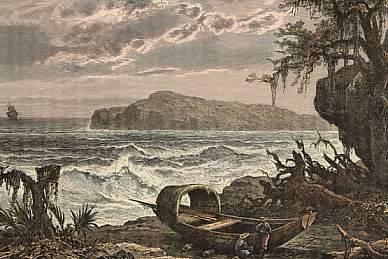 T. Вебер, «Вид на Тортугу с Гаити», 1878 г.