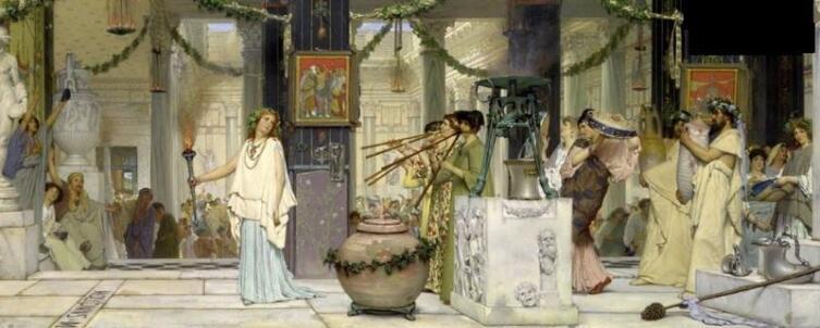 Лоуренс Альма-Тадема, «Праздник сбора винограда», 1870 г.