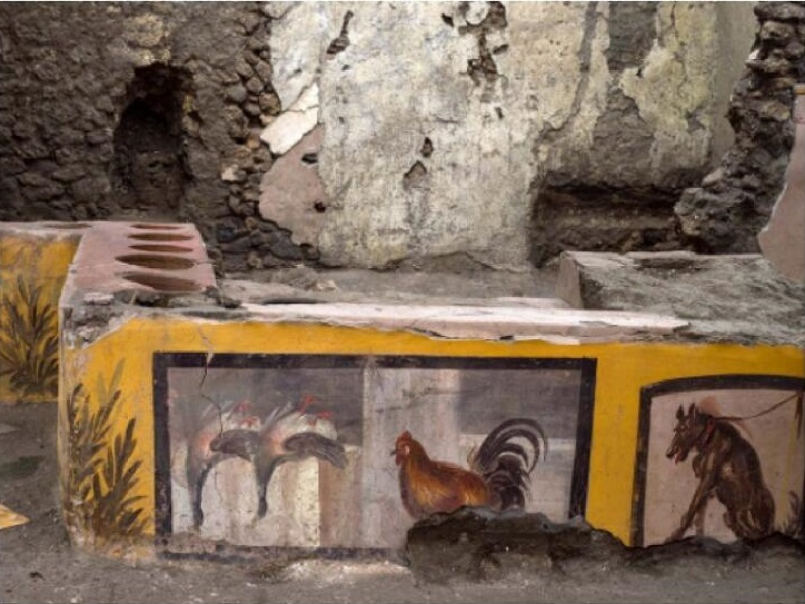 Меню столовой в Помпеях: дичь, курица, собака