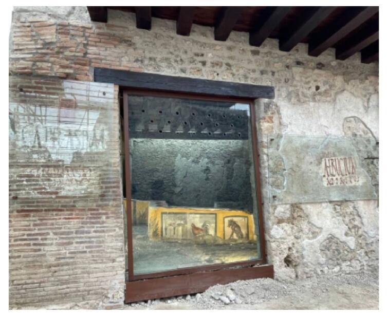 Вход в столовую в Помпеях