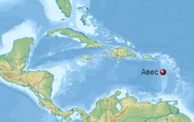 Авес - крошечный островок в Карибском море