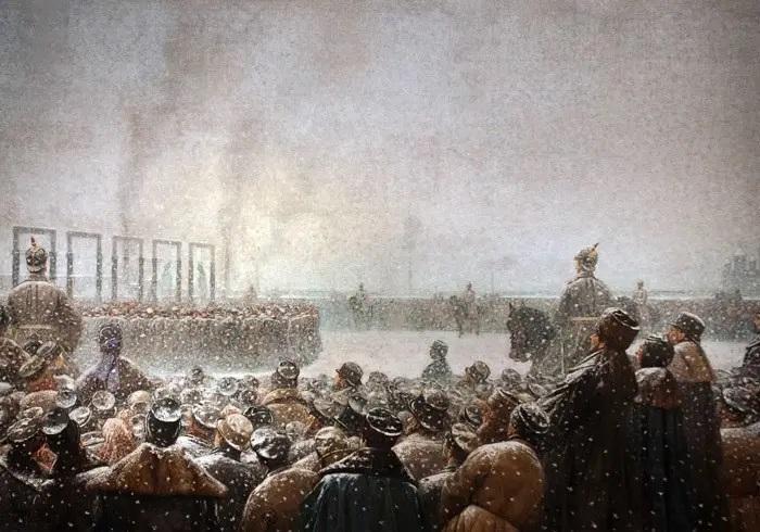 В. В. Верещагин, «ТКазнь заговорщиков в России», 1884 г.