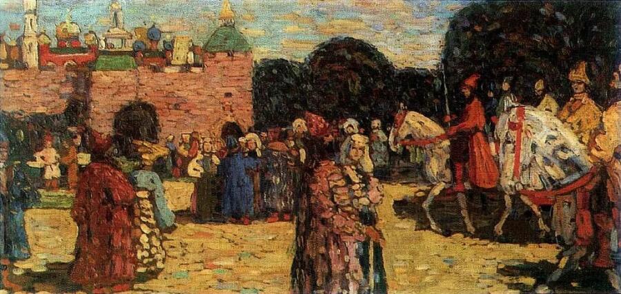 В. В. Кандинский, «Древняя Русь», 1904 г.