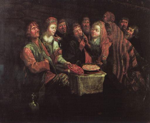 А. И. Вишняков, «Крестьянская пирушка», XVIII в.