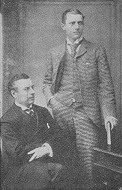 Джозеф (отец) и Остин (старший сын) Чемберлены, 1892 г.