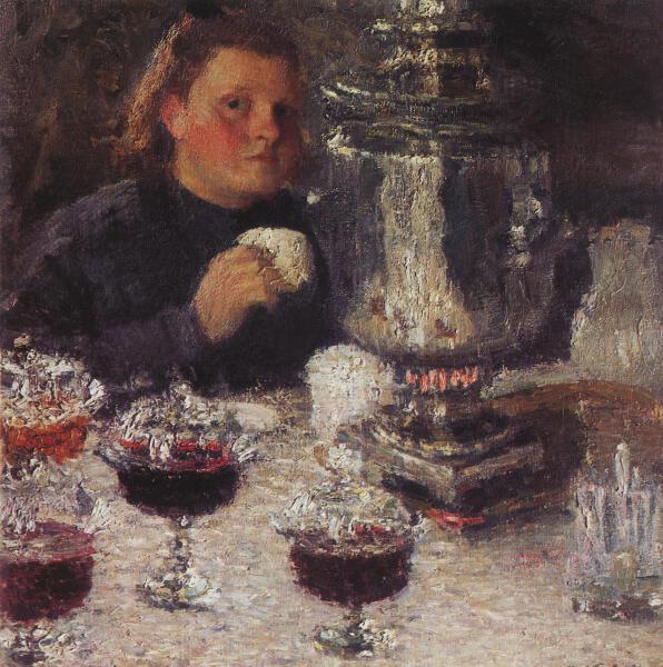 И. Э. Грабарь, «За самоваром», 1905 г.