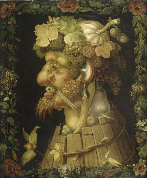 Джузеппе Арчимбольдо, «4 сезона. Осень», 1573 г.