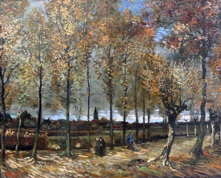 Винсент Ван Гог, «Аллея тополей близ Нюэнена осенью», 1885 г.