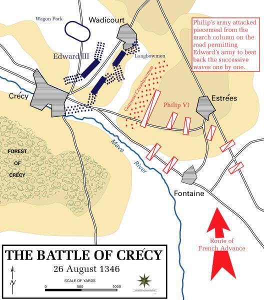 Битва при Креси 26 августа 1346 г.