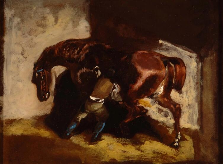 Теодор Жерико, «Конюх, ухаживающий за лошадью»