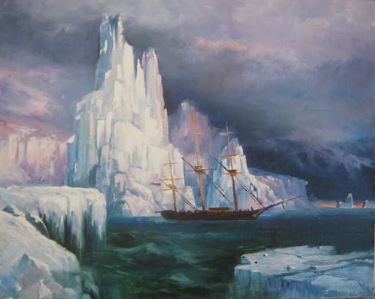 И. К. Айвазовский, «Ледяные горы в Антарктиде», 1870 г.