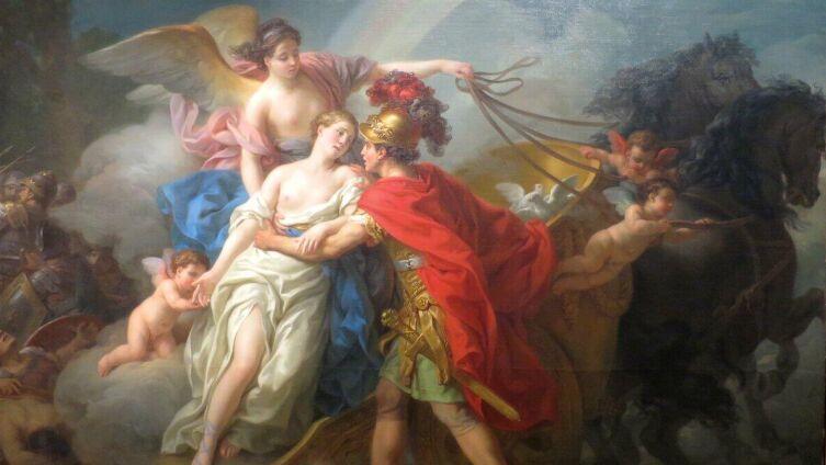 Жозеф Мари Вьен, «Ирида спасает Афродиту, раненную Диомедом», 1775 г.