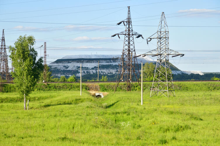Холм из фосфогипса - отходы из Лопатинского фосфоритного рудника и Воскресенского завода минеральных удобрений
