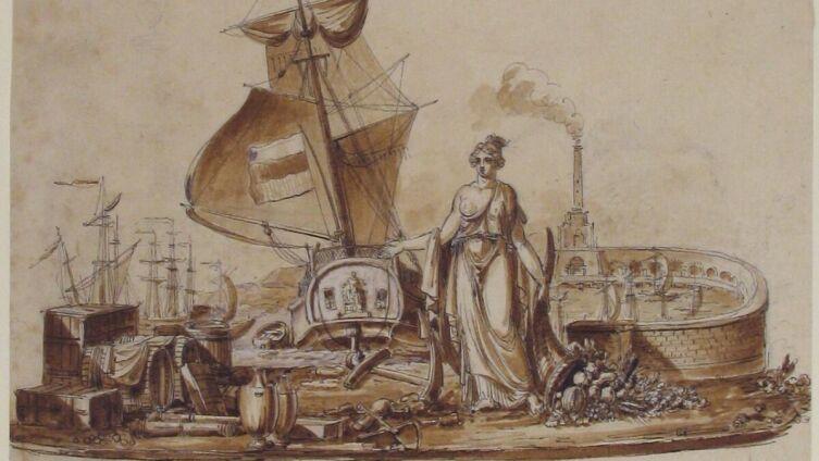 Шарль Персье, «Аллегория мореплавания»