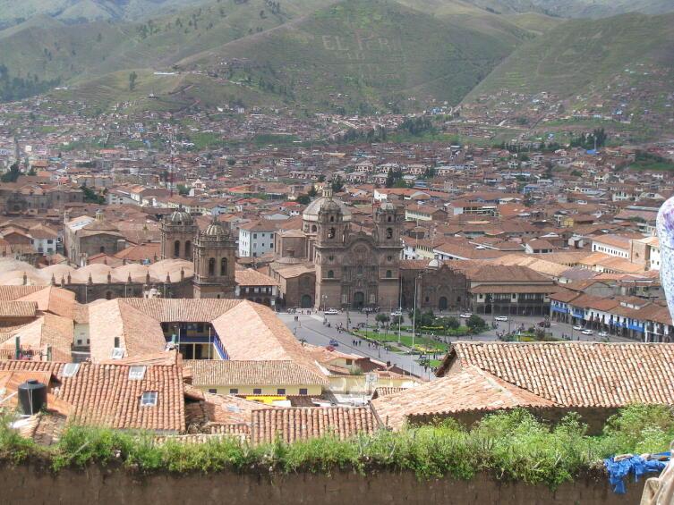 Вид города Куско
