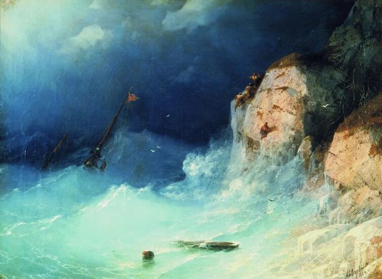 И. К. Айвазовский, «Кораблекрушение», 1864 г.
