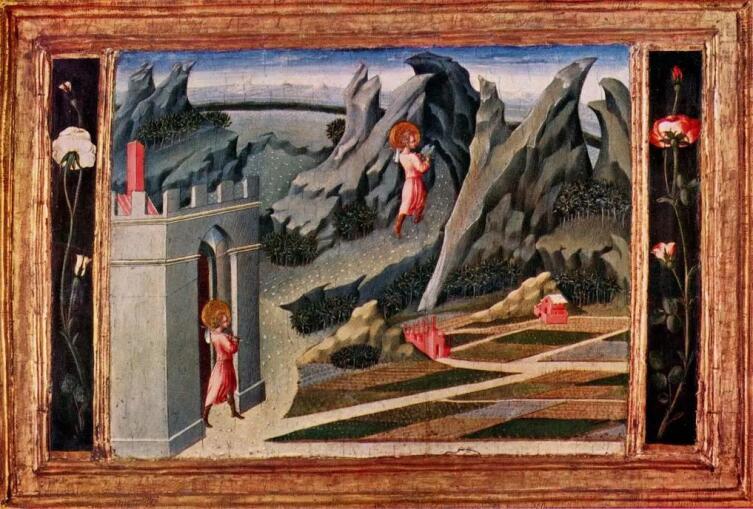 Джованни ди Паоло, «Св. Иоанн Креститель в пустыне», 1454 г.