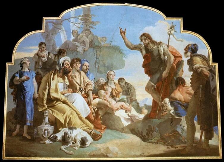 Джованни Баттиста Тьеполо, «Проповедь Иоанна Крестителя», 1733 г.