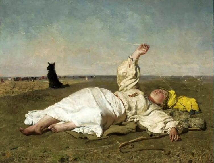Юзеф Хелмоньский, «Бабье лето», 1875 г.