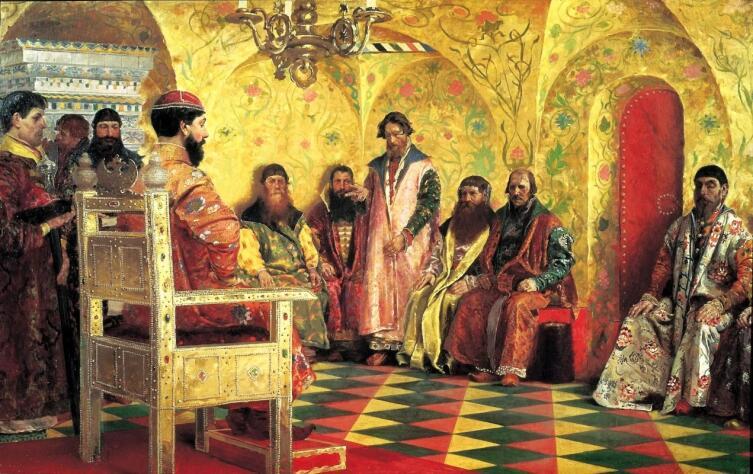А. П. Рябушкин, «Сидение царя Михаила Федоровича с боярами»