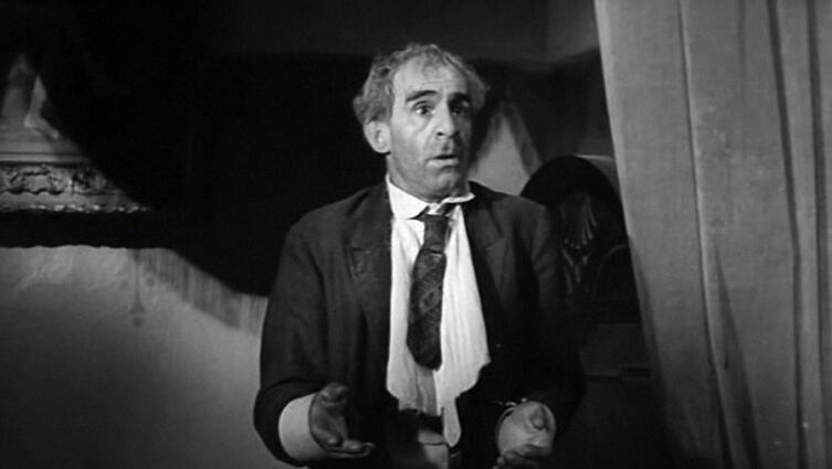 Зиновий Гердт в роли Паниковского. Кадр из к/ф «Золотой телёнок», 1968 г.