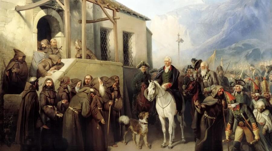 Адольф Иосифович Шарлемань, «Фельдмаршал Суворов» (фрагмент)