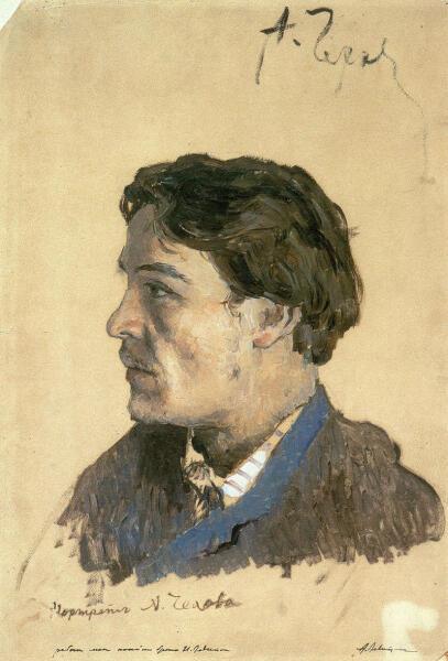 И. И. Левитан, «Портрет А. П. Чехова», 1886 г.