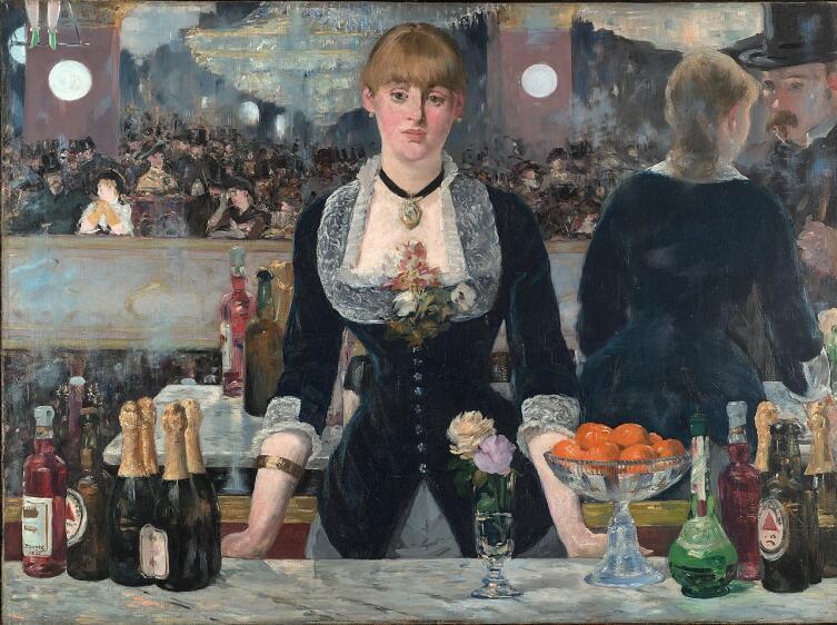 """Эдуард Мане, «Бар """"Фоли-Бержер""""», 1882 г."""