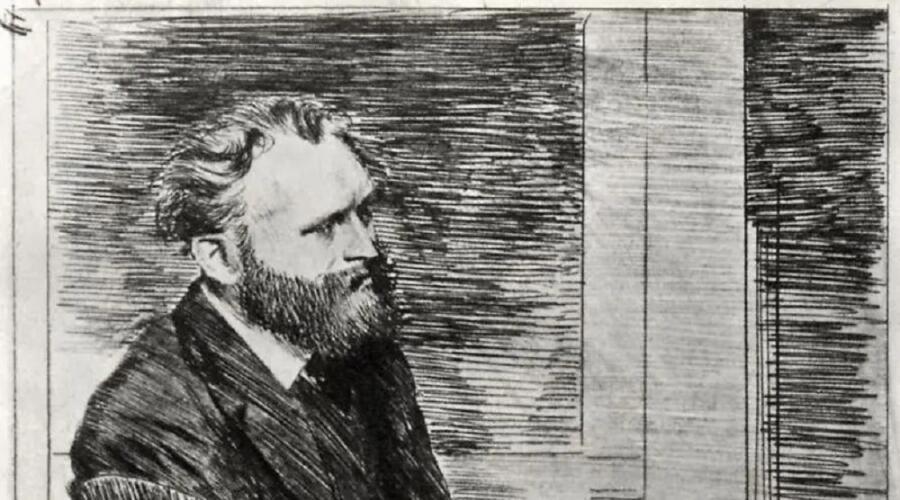 Эдгар Дега, «Портрет Эдуарда Мане» (фрагмент), 1865 г.