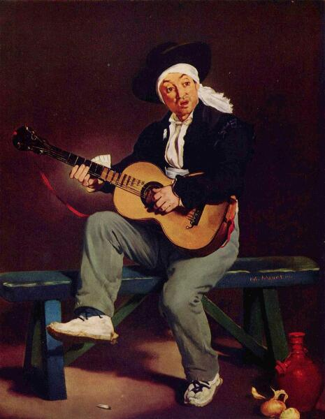 Эдуард Мане, «Испанский гитарист (Гитарреро)», 1860 г.