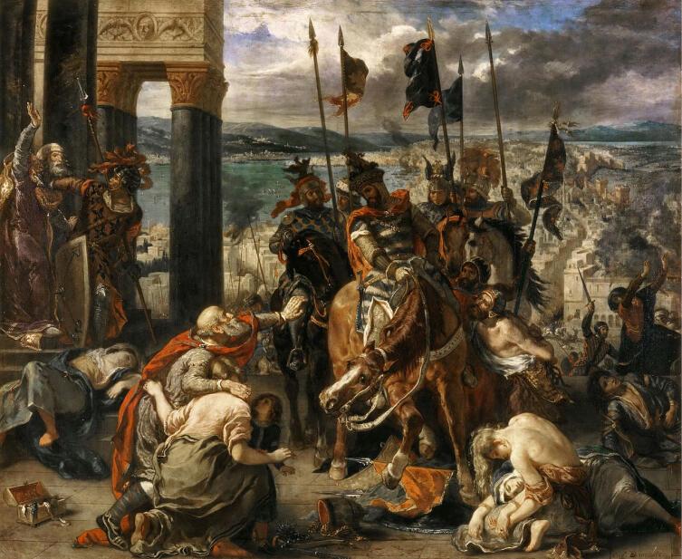 Делакруа, «Взятие Константинополя крестоносцами», 1840 г.