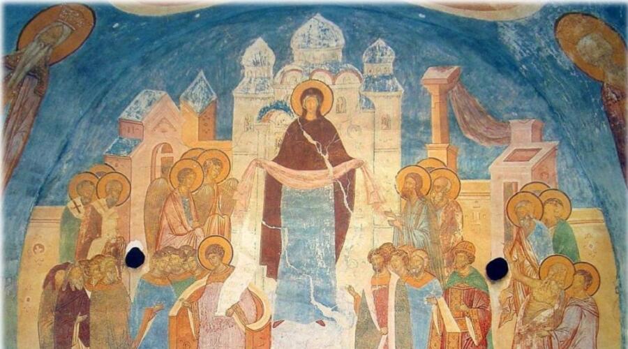 Покров Богоматери. Дионисий. Роспись собора Рождества Богородицы Ферапонтова монастыря, 1502 г