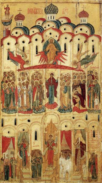 Покров Богоматери. Новгородская икона середины – второй половины XVI века