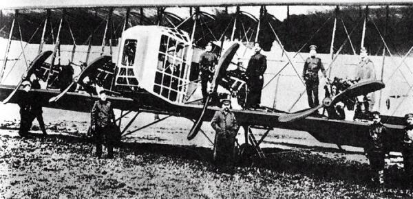 Первый в мире многомоторный бомбардировщик «Илья Муромец»